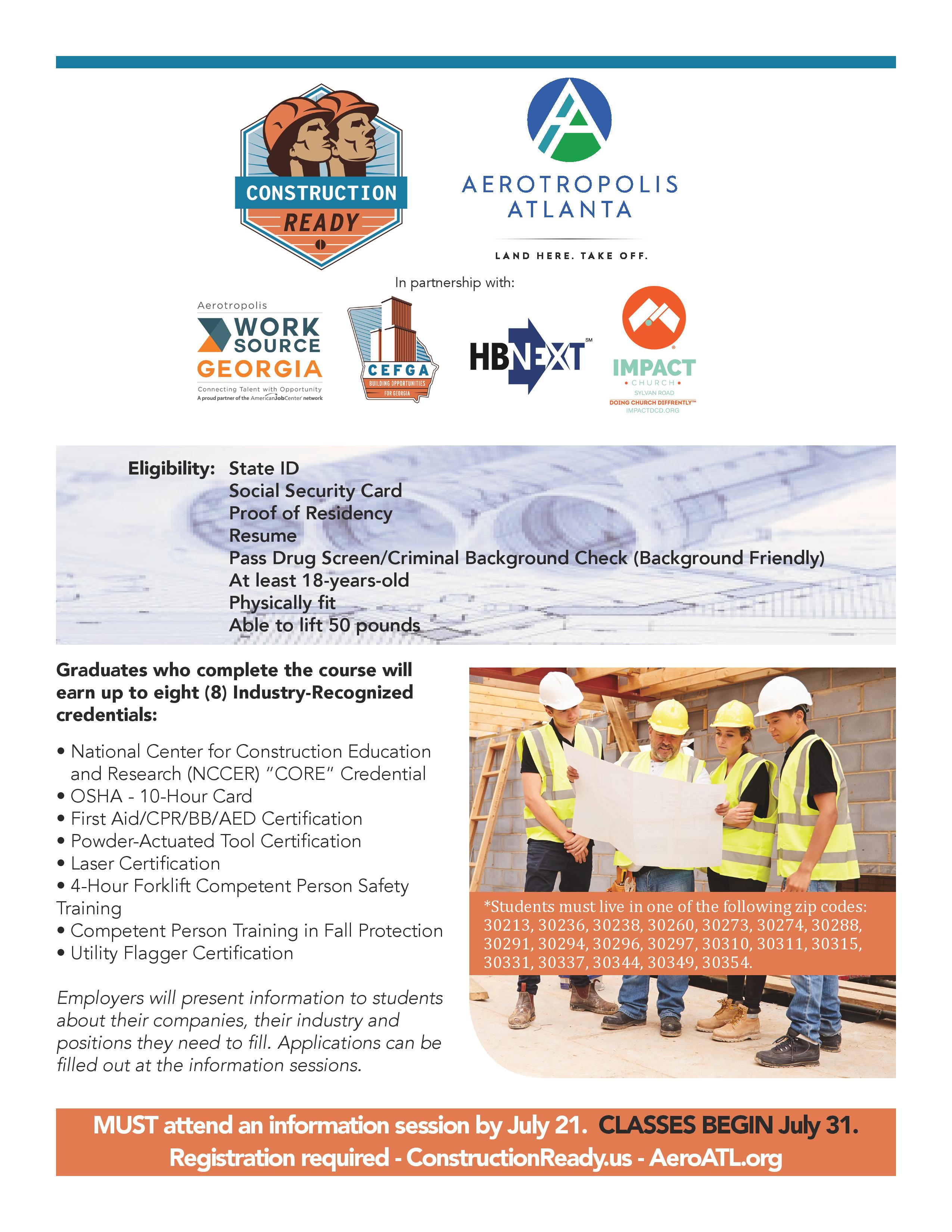 Free Construction Career Training And Certification Clayton County
