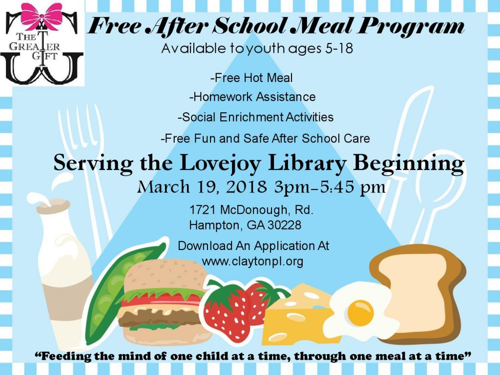 Greater Gift Free After School Program - Clayton County Library System